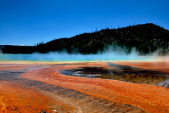 Grand Prismatic Spring (ChristineDepretto) Tags: park travel summer usa mountain holiday colour nature water landscape photography spring nikon montana rocks idaho wyoming usavacation nikonflickraward flickrstruereflection1 flickrstruereflection2