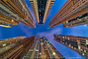 Vertical Limit (DanielKHC) Tags: blue light up vertical clouds marina buildings photo nikon bravo dubai cityscape looking uae perspective engine vertigo hour hdr d300 danielcheong danielkhc tokina1116mmf28 oloneo