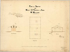 M5086: Plan of Smithy for Messrs E.P. Capper and Sons (29/1/1976) (UON Library,University of Newcastle, Australia) Tags: building architecture sketch drawing p