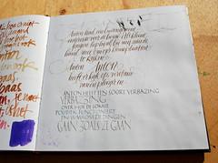 (Oriol Mir Genovart) Tags: sketchbook calligraphy oriol mir caligrafa calligraphie kalligrafi calligrafia
