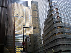Financial district, Greenwich Ave. and Barclay Street (Dan_DC) Tags: nyc newyorkcity corporate manhattan stock financialdistrict business company license vip editorial wallstreet executive branding brands rf imagebank privilege downtownmanhattan royaltyfree goldmansachsbuilding barclaystreet executie flatfee 200weststreet