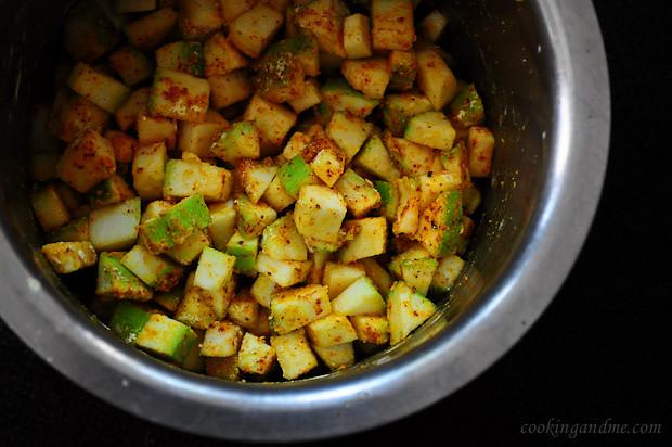 Zucchini Besan Sabji No Onion No Garlic Jain Friendly Recipes