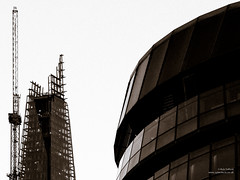 The Shard and the GLA Building (cybertect) Tags: building london architecture skyscraper construction unitedkingdom crane cityhall spire normanfoster constructionsite renzopiano se1 glabuilding towercrane londonse1 fosterpartners pottersfields shardofglass kenshuttleworth theshard panasonicg2