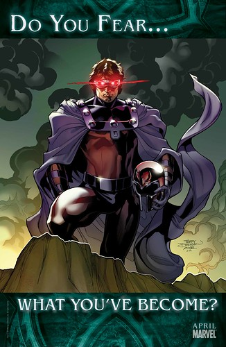 Cyclops dressed as Magneto