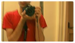 Self (Tofigh Daryani) Tags: red portrait home self canon photographer beneton eos500d