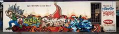 Got New York on our Back (tatscruinc) Tags: streetart newyork graffiti bio burners nicer wildstyle tatscru bg183 totem2 dmote themuralkings rooftoplegends2011