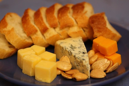 Cheese Plate with Jasper Hill Blue and Marcona Almonds