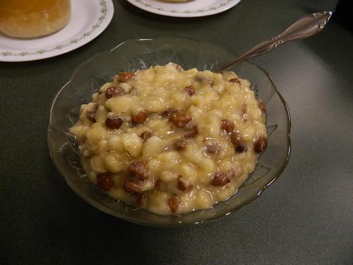 """Oatmeal"" with Kefir Soaked Raisins"