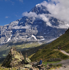 Artist and Nature (ceca67) Tags: mountain art nature switzerland grindelwald eiger peolpe 2011 saariysqualitypictures masterclasselite