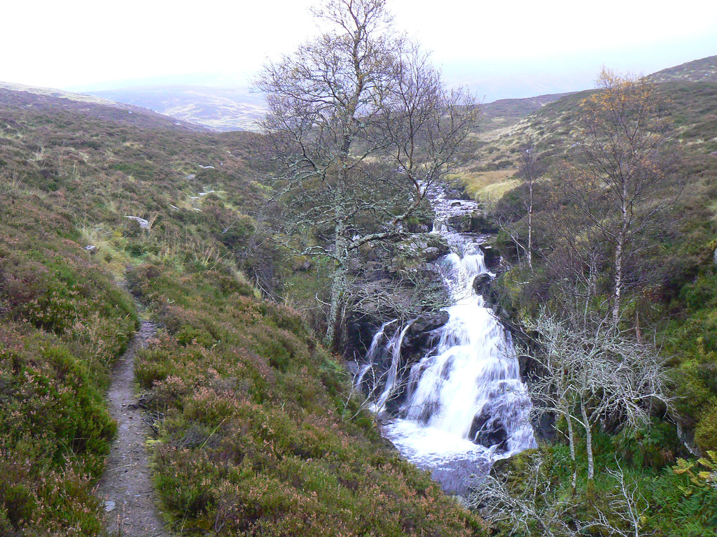 Waterfall on the burn below Carn an Tuirc