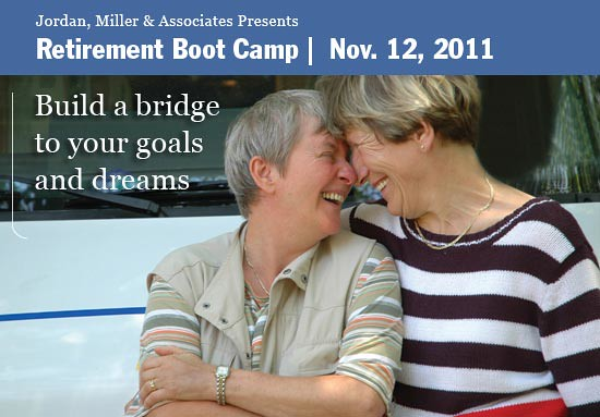 Jordan, Miller & Associates presents Retirement Boot Camp, November 12, 2011