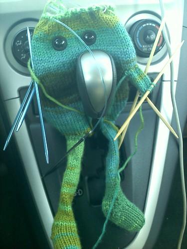 My knitting has eyes