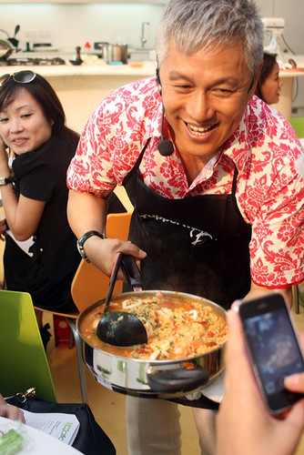 Chef Wan bringing around his seafood risotto