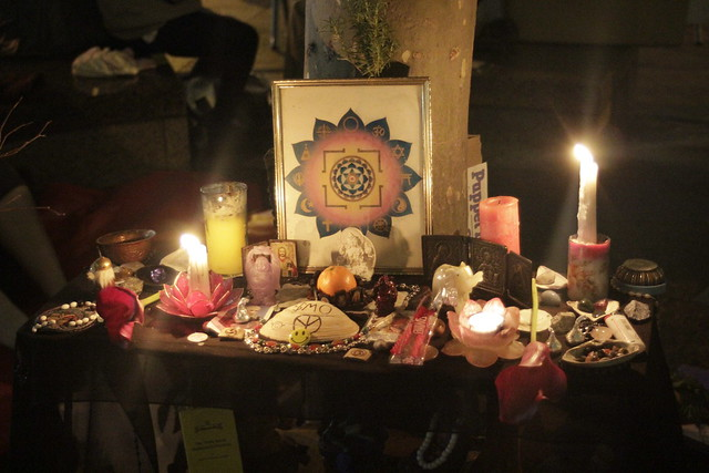 Shrine at Occupy Wall Street