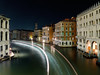 Bending The Light (parkerbernd) Tags: bridge venice light italy water night lumix canal grande long exposure bend trails ponte explore venezia venedig rialto vaporetto bending waterbus explored lx3