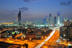 Kuwait's Lights [Explored] (MohammeD BuQuRais) Tags: city tower way lights al country kuwait raya sharq