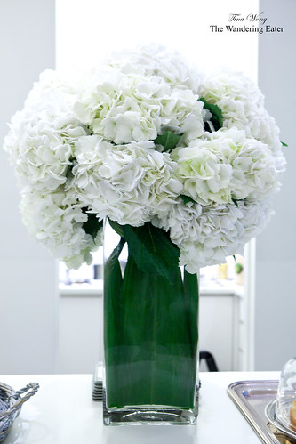 Vase of HUGE hydrangeas