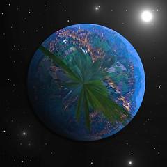 Plante Bis (mikeh2o) Tags: stars lumire bleu montage terre nuit vie toile plante terril retinne