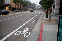 New Bike Facilities 2nd Street Southbound