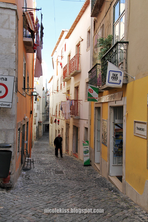 narrow street in alfama