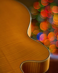 Guitar & Lights (mikeSF_) Tags: christmas lights guitar cosina 12 archtop benedetto wwwmikeoriazenfoliocom