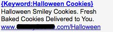 Halloween Cookies - Ad #1