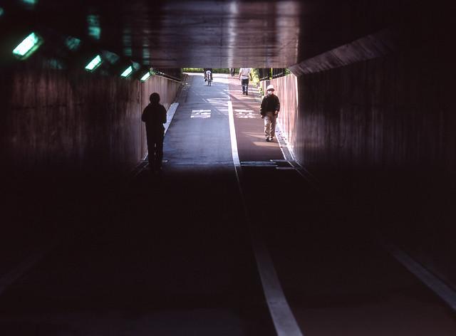 大通りの下