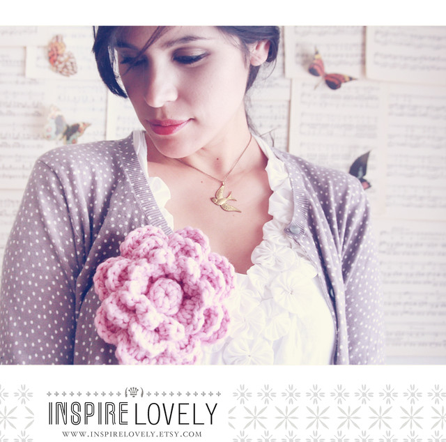 Inspire Lovely flower crochet