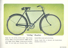 Hercules 'Stirling' Roadster Model (Abaraphobia) Tags: dublin art classic bicycle vintage advertising cycling birmingham graphics cork bikes cycle fixie fixedgear brochure catalogue hercules aston 1949 lightweight page23 fixedwheel irishedition boxlining wonderwheels herculescyclemotorco theirishcyclecorporation southofirelandcycleco