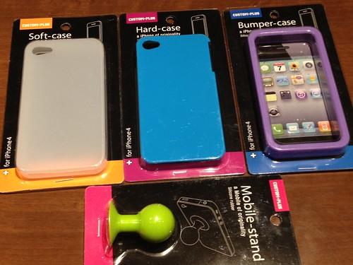 100円ショップのiPhoneケース、カスタマイズ用にいくつか 買ってみました