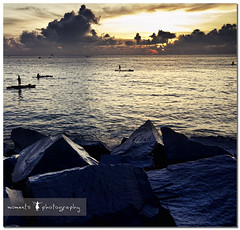 as dawn breaks out.. (PNike (Prashanth Naik..back after ages)) Tags: sea sky orange sun india water colors yellow clouds sunrise nikon rocks asia 100 pondicherry puducherry d7000 pnike