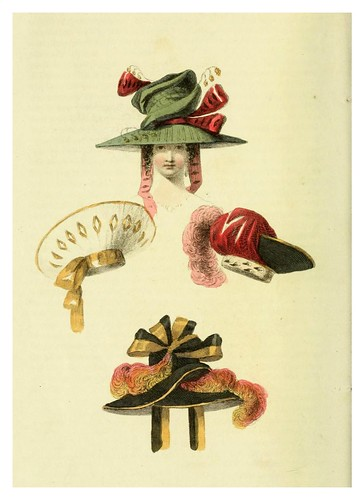019-Sombreros 1828-The Repository of arts, literature, commerce, manufactures, fashions and politics 1809-1829- Ackermann Rudolph