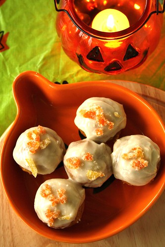 Mini Halloween Pumpkin Cupcakes with Maple Frosting