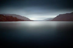 Bleak and Beautiful - Ullswater, Cumbria, UK (Richard:Fraser) Tags: uk blue england lake mountains sunrise canon landscape still long exposure district smooth relaxing peaceful tranquility calm hills hour fells mk2 bleak 5d wilderness mkii waterscape ullswater