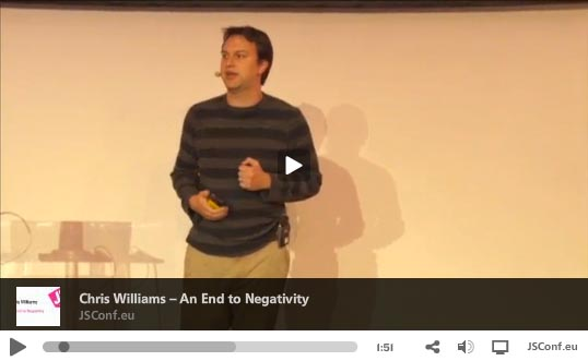 Chris Williams - An End To Negativity
