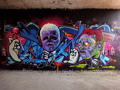 INCA _Hell_Circus (SRCARAMELOS) Tags: new wild inca spain mural raw circus clown evil alicante wc satan cans heroin sez graff eds sent th nuevo 2011 novedad 2k11