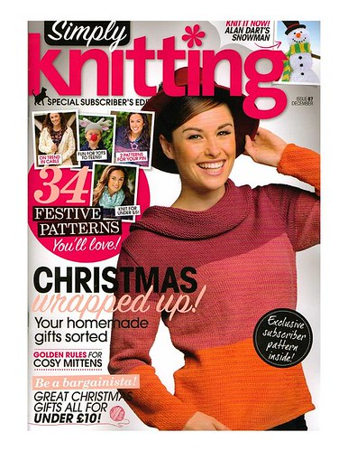 'Simply Knitting' Issue 87 December.