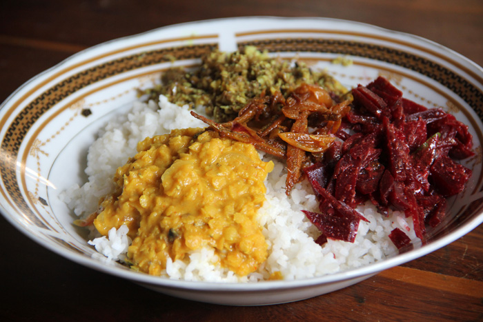 Sri Lankan Rice and Curry