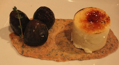 Creme brulee cheesecake with figs
