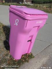Lakeville Sanitation Inc. Trash Cart (TheTransitCamera) Tags: pink trash kick barrel cancer can bin waste cart curb cascade inc sanitation lakeville