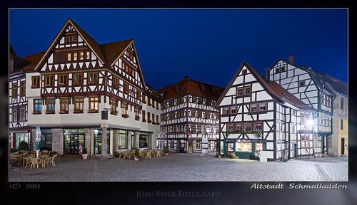 Altstadt Schmalkalden in Thüringen