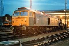 47508_6.3.88 (runtheredline) Tags: night photo br shot diesel nightime 80s locomotive 1980s railways britishrail class47 oldoakcommon brushtype4 47508