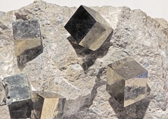 Pyrite (Ron Wolf) Tags: nature spain crystal mineral geology isometric pyrite earthscience mineralogy