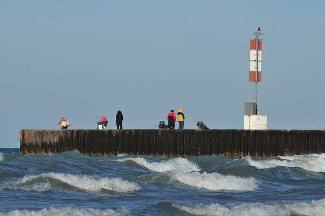 Fall in Bayfield - Fishing on the South Pier