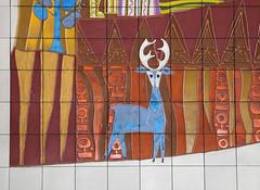 Deer (Sam Howzit) Tags: southwest art tile design 1971 mural florida indian disney deer 1970s waltdisneyworld 4thfloor fourthfloor contemporaryresort maryblair nativeamerica grandcanyonconcourse