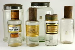 2001. Group of (6) Apothecary Jars