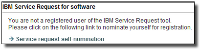 "Click the ""Service request self nomination link"""