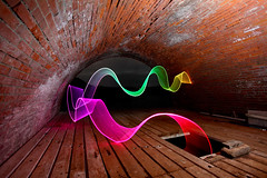 Where Rainbows Sleep (Pikebubbles) Tags: longexposure lightpainting color colour brick colors night dark graffiti rainbow ribbons paint arch colours sleep bricks ribbon archway guernsey davidgilliver lightjunkies mygearandme theinspirationgroup whendarknessfallsuponus