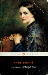 book cover of tenant of wildfell hall: a painting of a white woman with pulled back hair
