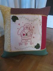 Ho ho ho (ceciliamezzomo) Tags: santa christmas xmas natal handmade noel pillow ho patchwork cushion almofada papai bordado calus